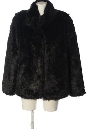 b.c. best connections Płaszcz ze sztucznym futrem czarny W stylu casual