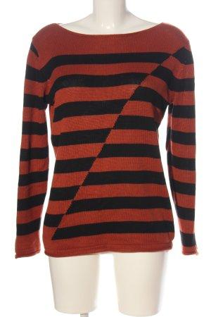 b.c. best connections Gebreide trui bruin-zwart gestreept patroon