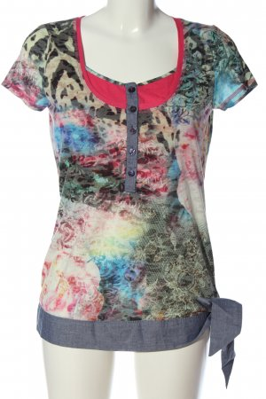 b.c. best connections Gebreid shirt abstract patroon casual uitstraling