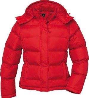 B&C collection Manteau d'hiver rouge-brun nylon