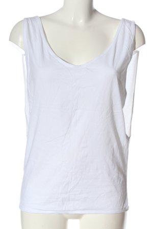 B&C collection Top basic biały W stylu casual