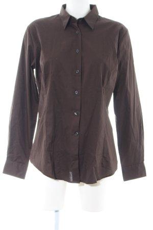 B&C collection Hemd-Bluse braun Casual-Look