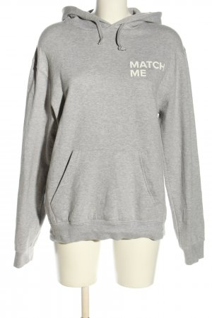B&C collection Hooded Sweater light grey-white flecked casual look
