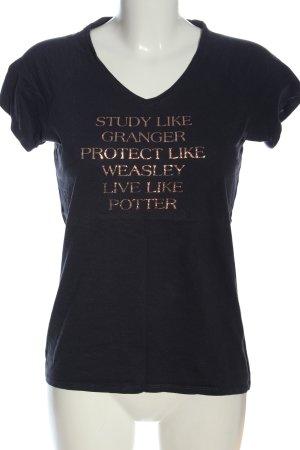 B&C collection Koszulka z dekoltem w kształcie litery V czarny-złoto