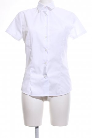 B&C collection Kurzarm-Bluse weiß Business-Look