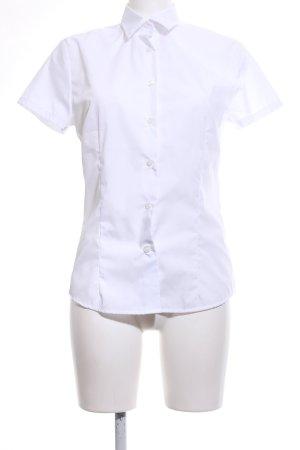 B&C collection Blouse à manches courtes blanc style d'affaires