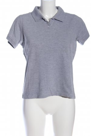 B&C collection Polo Shirt light grey flecked casual look
