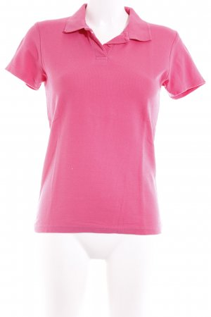 B&C collection Polo-Shirt magenta Casual-Look