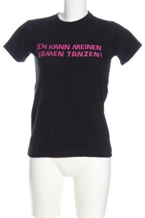 B&C collection Koszulka z nadrukiem czarny Wyhaftowany logo W stylu casual