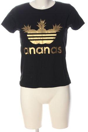 B&C collection Koszulka z nadrukiem czarny-złoto Nadruk z motywem