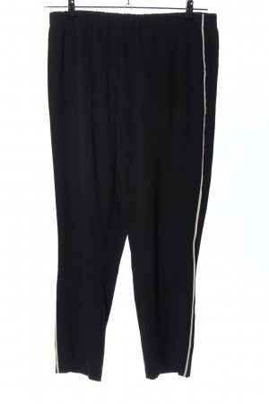 B&C collection Stoffhose schwarz-creme Casual-Look