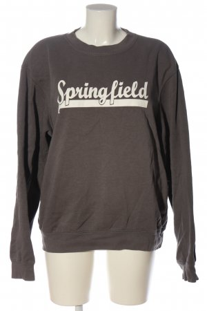 B&C collection Sweat Shirt brown-white printed lettering casual look