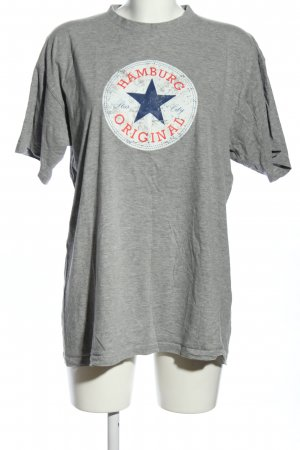 B&C collection T-Shirt light grey flecked casual look