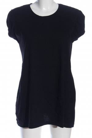 B&C collection Boatneck Shirt black casual look