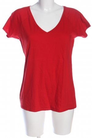 B&C collection V-Neck Shirt red casual look