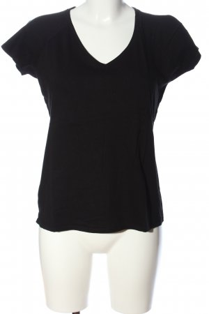 B&C collection V-Neck Shirt black casual look