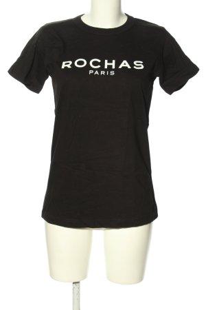 B&C Exact 190 T-shirt zwart-wit gedrukte letters casual uitstraling