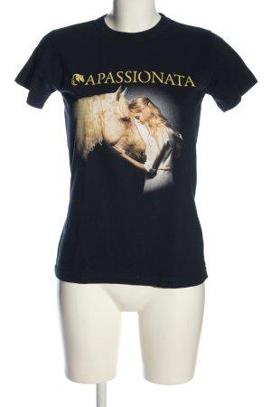 B&C Exact 190 T-shirt zwart prints met een thema casual uitstraling