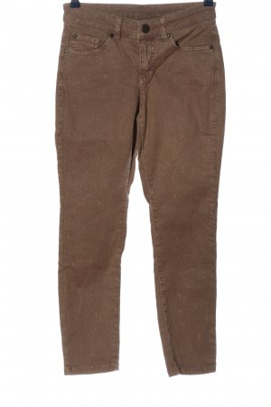 b.c. Five-Pocket Trousers brown abstract pattern casual look