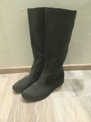 Heine Slouch Boots grey-dark grey leather