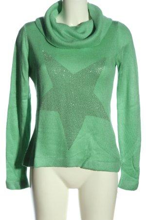 b.c. Turtleneck Sweater green casual look