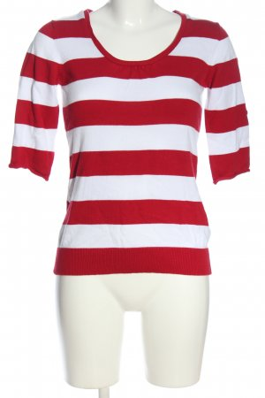 b.c. Crewneck Sweater white-red striped pattern casual look