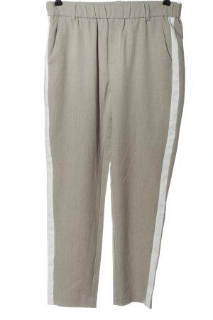 b.c. Spodnie materiałowe jasnoszary-biały W stylu casual