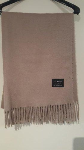 Écharpe en cachemire gris brun-beige
