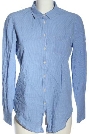 B. D. Baggies Long Sleeve Shirt blue-white allover print business style