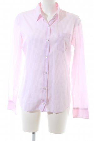 B. D. Baggies Langarmhemd pink-weiß Karomuster Business-Look