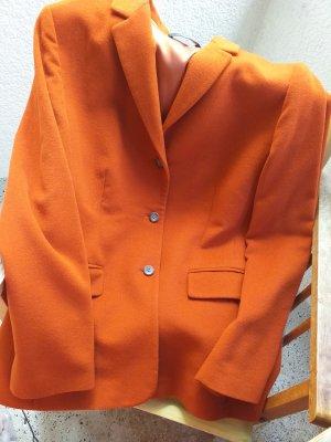 Blazer en laine orange fluo