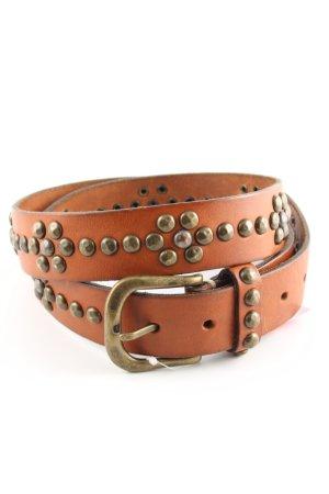 B.Style Ledergürtel hellorange Casual-Look