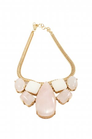 b.loved Collier Necklace gold-colored-natural white elegant