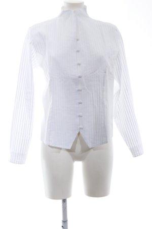 B. M. Company Blouse-chemisier blanc motif rayé style d'affaires