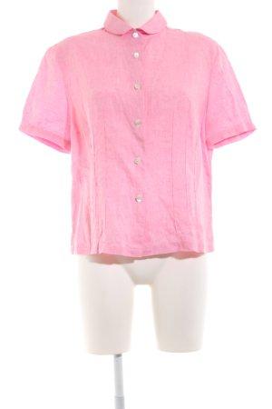 B. M. Company Blouse en lin rose style décontracté