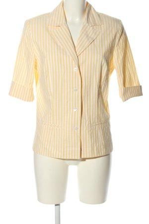 B.M. Koszulowa bluzka bladożółty-biały Na całej powierzchni W stylu casual