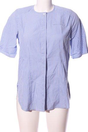 B.M. Koszula z krótkim rękawem niebieski-biały Wzór w kratkę