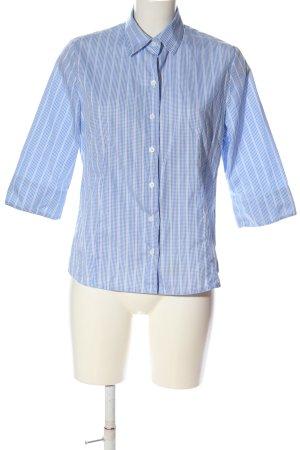 B.M. Koszula z krótkim rękawem niebieski-biały Na całej powierzchni