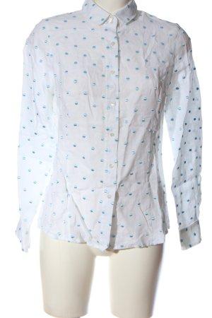B.M. Koszula z długim rękawem biały-niebieski Na całej powierzchni