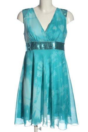 b.p.c. Bonprix Collection A-Linien Kleid blau abstraktes Muster Elegant