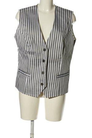 b.p.c. Bonprix Collection Anzugweste hellgrau-weiß Streifenmuster Business-Look