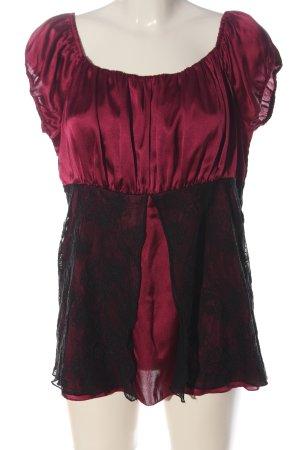 b.p.c. Bonprix Collection Carmen-Bluse rot-schwarz Casual-Look