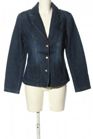 b.p.c. Bonprix Collection Jeansblazer blau Casual-Look