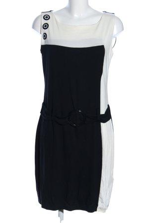 b.p.c. Bonprix Collection Jerseykleid schwarz-weiß Casual-Look