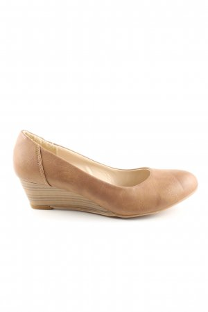 b.p.c. Bonprix Collection Zapatos de cuña crema look casual