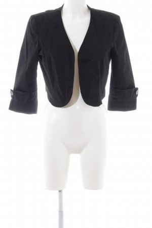 b.p.c. Bonprix Collection Kurz-Blazer schwarz Business-Look