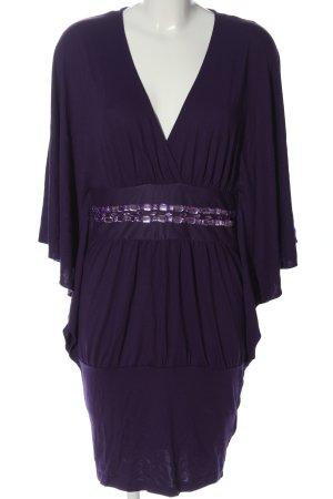 b.p.c. Bonprix Collection Kurzarm-Bluse lila Elegant