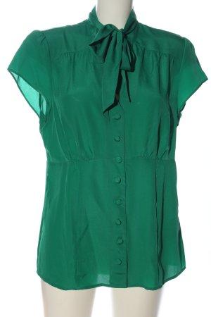 b.p.c. Bonprix Collection Kurzarm-Bluse grün Business-Look