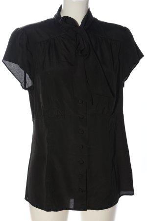 b.p.c. Bonprix Collection Kurzarm-Bluse schwarz Business-Look