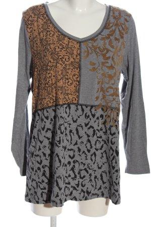 b.p.c. Bonprix Collection Langarm-Bluse meliert Casual-Look